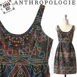 Anthro Anna Sui Tesserae Mosaic dress 8
